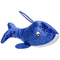 knuffel dolfijn junior 14 cm pluche blauw