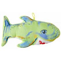 knuffelhaai junior 22 cm pluche groen
