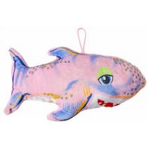 knuffelhaai junior 22 cm pluche lichtroze