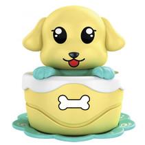 opwindfiguur Hond junior 11 cm geel