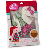 pop-accesoireset meisjes 30 cm textiel groen/roze/wit