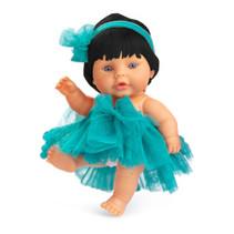 babypop 22 cm meisjes vinyl/textiel zwart/turquoise