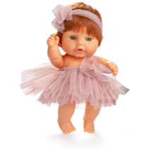 babypop 22 cm meisjes vinyl/textiel rood/roze