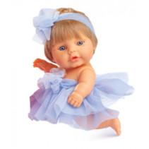 babypop 22 cm meisjes vinyl/textiel blond/blauw