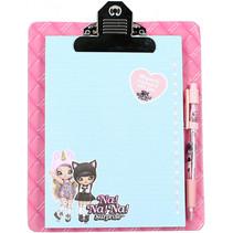notitieblok Chic A5 karton roze 3-delig