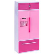 speelset koelkast met licht en geluid 31 cm roze