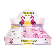 kneedfiguur flamingo junior 12 x 7 cm wit