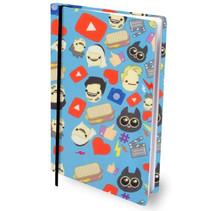 rekbare boekenkaft Dylan Haegens A4 textiel/elastaan blauw