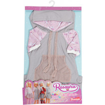 tienerpoppenkleding sweaterjurk Rosuara textiel grijs