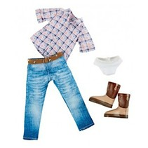 Cowgirl outfit tienerpop kledingset 4-delig
