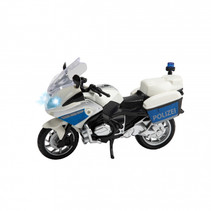 politiemotor De junior 22 x 9,5 x 14 cm wit