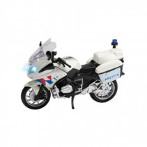 politiemotor NL junior 16 x 4 x 10 cm wit