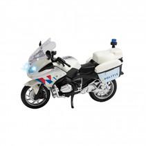 politiemotor NL junior 22 x 9,5 x 14 cm wit