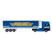vrachtwagen Politie junior 37x7,5 cm polypropyleen blauw
