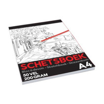 schetsboek Pro junior A4 papier wit 50 vellen