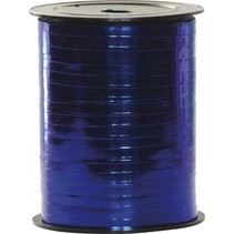 cadeaulint 500 m x 5 mm metallic blauw