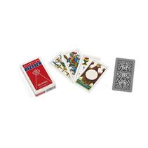 speelkaarten Piacentine 91 mm karton bruin 40-delig