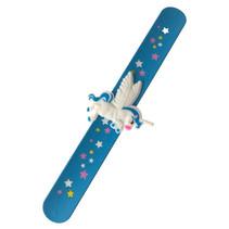 klaparmband meisjes 21,5 cm blauw/blauw