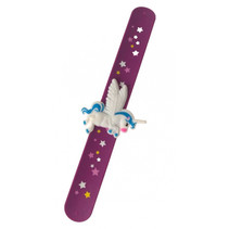 klaparmband meisjes 21,5 cm paars/blauw