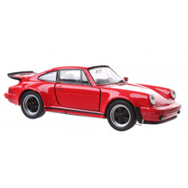 auto Porsche 911 Turbo junior 11 cm die-cast rood