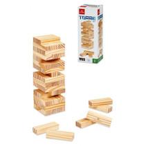 behendigheidsspel mini stapeltoren Jenga 19,5 cm hout 48-delig