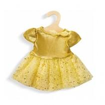 poppenkleding jurk goud 28-35 cm