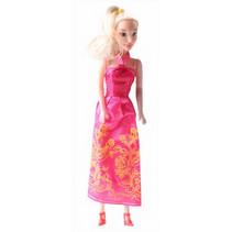 prinsessenpop meisjes 28 cm fuchsia