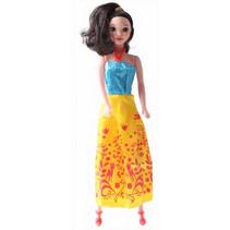 prinsessenpop meisjes 28 cm geel/blauw