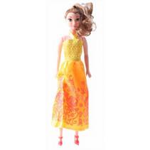 prinsessenpop meisjes 28 cm oranje