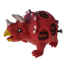 knijpfiguur dinosaurus jongens 11 cm siliconen rood