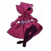 poppenjurk Fashion Girl meisjes 35 cm textiel roze/zwart
