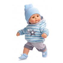 babypoppenkleding meisjes 34 cm textiel blauw 5-delig