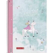 collegeblok Eenhoorn 21 x 29,7 cm karton roze