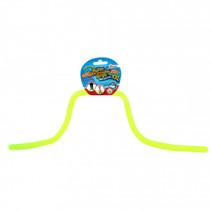 rekbaar touw met glitters junior geel 5 meter