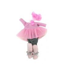 babypoppenkleding Irene meisjes 22 cm roze 6-delig
