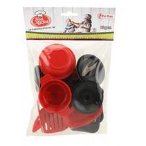keukengerei Foodmarket junior rood/zwart 14-delig