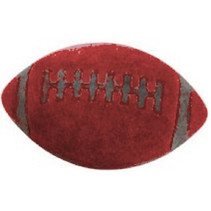 gum Football 2,5 cm rubber rood
