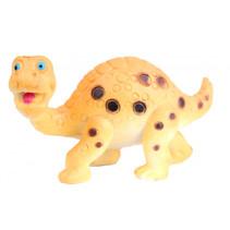 speelfiguur Brachiosaurus 5 cm rubber geel