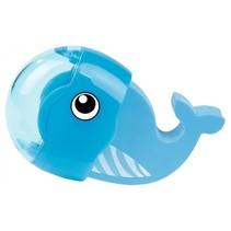 gum en puntenslijper walvis blauw 6 cm