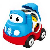 auto QBall pull-back 9 cm blauw