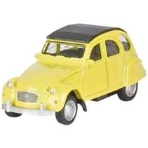 Metalen Citroën 2CV 7,6 cm geel