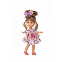 tienerpop kleertjes Luci junior vinyl wit/roze