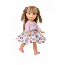 tienerpop kleertjes Luci junior vinyl roze/wit