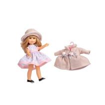tienerpop kleertjes Irene junior wol roze/beige