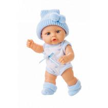 babypop kleertjes Mini Baby textiel blauw