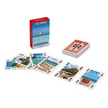 mini-kaartspel Sardinië 8 x 5 cm rood 55-delig