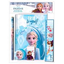 schrijfset Frozen 25 x 19 cm blauw 5-delig
