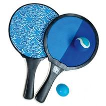 beachballset en vangspel 2-in-1 blauw/zwart