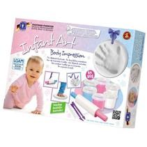 Infant Art Body Impression: handafdruk klei