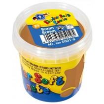Kinder Soft Knete Basic Klei 150 gram Bruin
